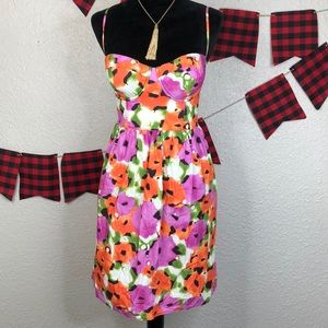 Moda int. Floral bustier style dress size 14